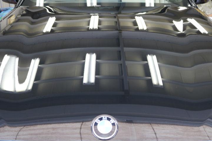 5シリーズツーリングのガラスコーティング施工前ボンネット